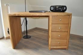 Schreibtisch Massiv Rustikaler Schreibtisch Aus Eichenholz Holzfabrik