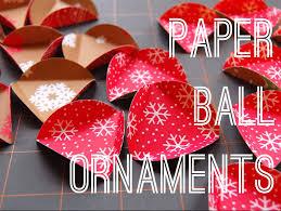 paper ball ornament tutorial maker mama