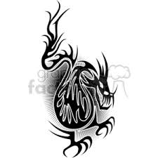 royalty free dragon tattoo design 377720 vector clip art image