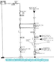 mazda 323 cooling fan system wiring diagram