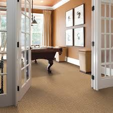 shaw carpets basement traditional with basement area box beams