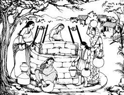 preschool coloring pages woman at the well coloring woman at the well coloring pages together with bible