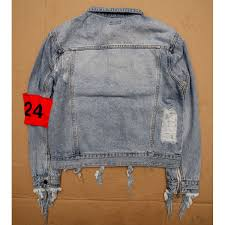 Light Jean Jacket Ripped Jeans Jacket Light