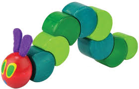 the very hungry caterpillar wooden twist and grasp toy by kids