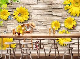 foto wallpaper bunga matahari kustom 3d wallpaper bunga matahari latar belakang 3d wall mural