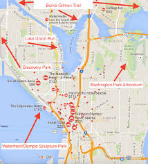 seattle map discovery park running in seattle washington best routes and places to run in
