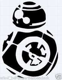 reusable mylar bb8 star wars stencil template for crafting canvas