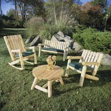 Rustic Patio Tables Cedar Patio Furniture With Diy Style Cool House To Home Furniture