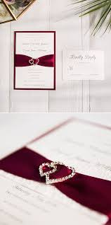 and white wedding invitations 2017 wedding color scheme trends burgundy and white stylish