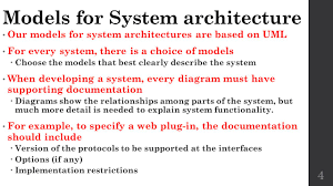Architectural Design Of A System System Architecture Cs 560 Project Design The Requirements