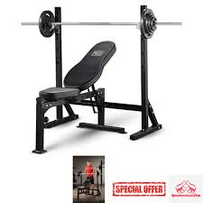weight bench lift press exercise weights fitness workout gear home