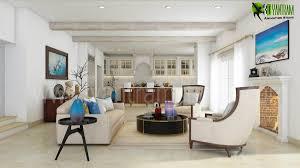 3d interior living kitchen room concept yantram architectural