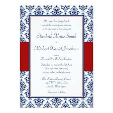 damask wedding invitations blue and damask wedding invitation card