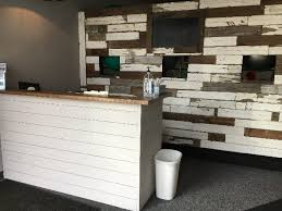 Plywood Reception Desk Shiplap Reception Desk Elmwood Custom Goods