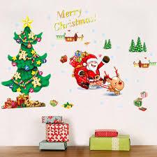merry christmas santa claus tree wall sticker removerable diy merry christmas santa claus tree wall sticker removerable diy window door home decor