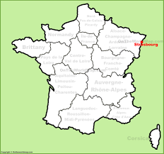 Alsace Lorraine Map Strasbourg Location On The France Map
