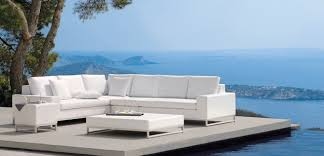 outdoor lux white sofa modern patio furniture and intended for idea