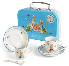 beatrix potter tea set rabbit porcelain tea set in box with handle by beatrix