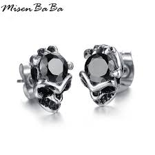 cool earring cool men jewelry stud earrings black earring for men stud
