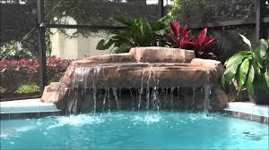 waterfalls for inground pools small grotto pool waterfall swimming pool rock watefall youtube