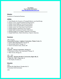 Good Resume Objectives Laborer by Construction Laborer Resume Examples And Samples Free Resume