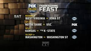 fox college football thanksgiving feast