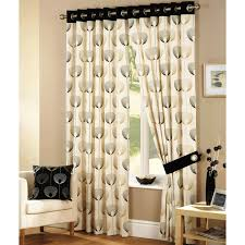 alluring black and cream curtains designs decofurnish