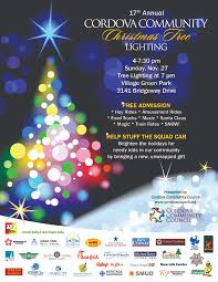 17th annual cordova community christmas tree lighting events