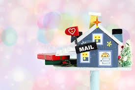 mailbox craft wooden craft house mailbox with letter and gift box of stock