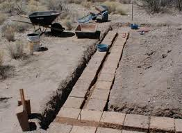 building with straw bale or adobe three options for footings and