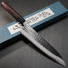 japanese kitchen chef knives bay trade japan knife store shinji fujishita hammered damascus aogami blue steel 2 gyuto chef s knife japan
