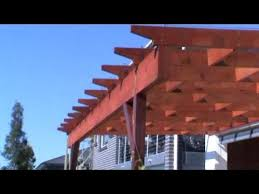 How To Build A Pergola Roof by How To Build A Wooden Pergola Youtube