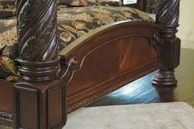 North Shore Bedroom Furniture By Ashley North Shore King Poster Bed With Canopy From Ashley Coleman