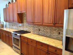 Glass  Travertine Tile Kitchen Backsplash Bradenton Florida - Linear tile backsplash