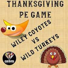 thanksgiving physical education wiley coyotes vs turkeys