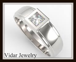 diamond ring for men design mens princess cut diamond wedding ring vidar jewelry unique