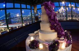 wedding cake nyc navy and orchid nyc wedding