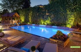 Custom Landscape Lighting by Custom Pool Ideas Pool Design Ideas