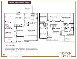 stratford floor plan 2nd story master bed niblock homes nc