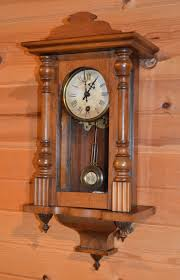 Wooden Wall Clock Antique German Or Vienna Wooden Wall Clock R A Pendulum Poss