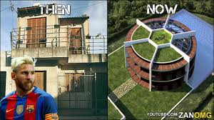 10 footballers houses then u0026 now ft messi ronaldo neymar