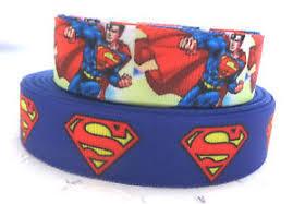superman ribbon 1m superman logo figure ribbon 22mm 7 8 cake crafts gift wrap