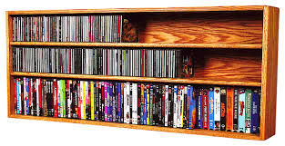 Wall Mounted Dvd Shelves Solid Oak Wall Or Shelf Mount For Cd And Dvd Vhs Tape Book Cabinet