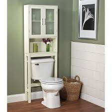 Bathroom Cabinet Above Toilet Bathroom Decoration Using White Wood Glass Door Bathroom Storage