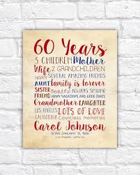 gifts for 60 year birthday gift for 60th birthday 60 years gift for