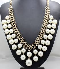 designer handmade jewellery fashion new design pearl necklaces gold chain imitation
