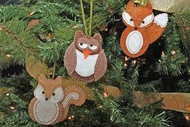 woodland animal ornament patterns