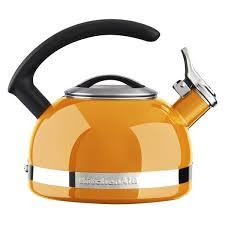 Kitchenaid Orange Toaster Kitchenaid 2 Quart Orange Porcelain Enamel Kettle Free Shipping