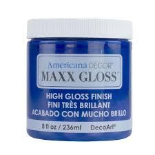 decoart americana decor maxx gloss 8 oz sapphire blue paint