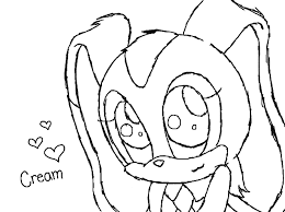 cream the rabbit sketch by mandaangel96 on deviantart